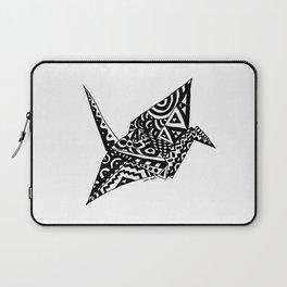 Paper Crane Bird Origami Doodle Laptop Sleeve