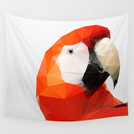 Geo - Parrot red Wall Tapestry