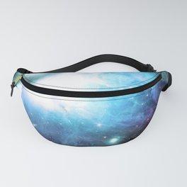 Orion Nebula Aqua Periwinkle Gold Fanny Pack