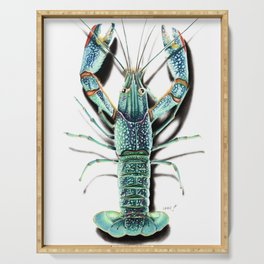 Red Clawed Crayfish Serving Tray