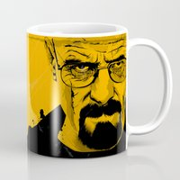 breaking Mugs featuring Breaking Bad by The Art Warriors