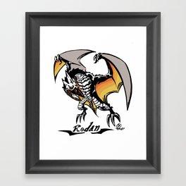 Rodan Kaiju Print Framed Art Print