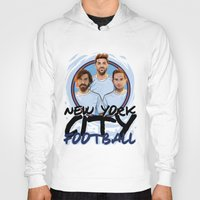 pirlo Hoodies featuring I Love NY City by Akyanyme