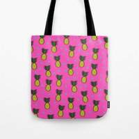 pineapples Tote Bags featuring Pineapples by Sandra Arduini