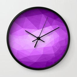 Geometric Polygonal Pattern 04 Wall Clock