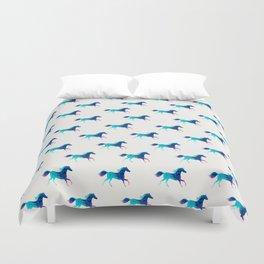 blue horse pattern Duvet Cover