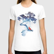 The last apple tree LARGE White Womens Fitted Tee