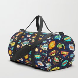 Retro Vintage Comic Book Speech Bubbles Design Duffle Bag