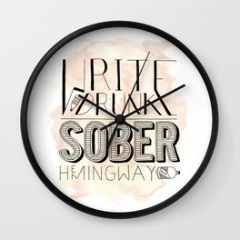 Sober Wall Clock