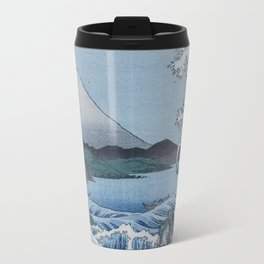 Sea Off Satta - Japanese Woodblock Print by Hiroshige Travel Mug