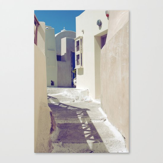 Santorini Walkway II Canvas Print