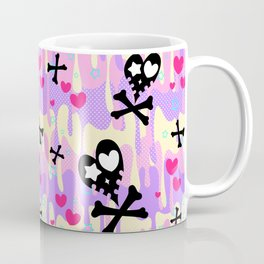 Melty Heart Skulls and Crossbones Coffee Mug