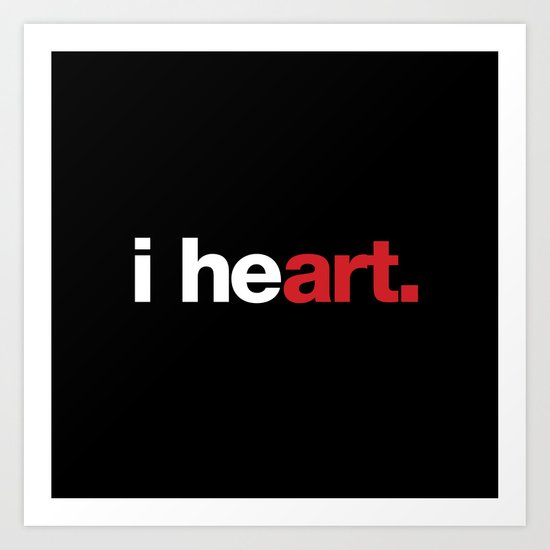 i heart (black) Art Print