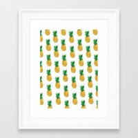 pineapples Framed Art Prints featuring Pineapples by millymay2
