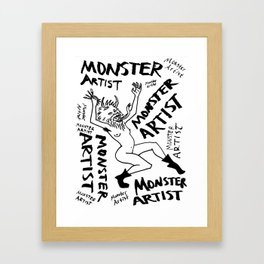 Monster Artist Framed Art Print