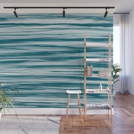Tropical Dark Teal Inspired by Sherwin Williams 2020 Trending Color Oceanside SW6496 Soft Focus Motion Blue Water Color Blend Wall Mural