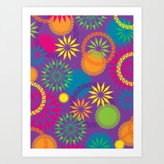 Spikeyflower Purple Art Print