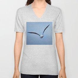 Seagull in flight Unisex V-Neck