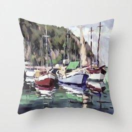 The Mooring Throw Pillow