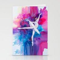 ballerina Stationery Cards featuring Ballerina by Slaveika Aladjova