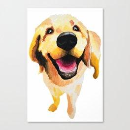 Good Boy / Yellow Labrador Retriever dog art Canvas Print