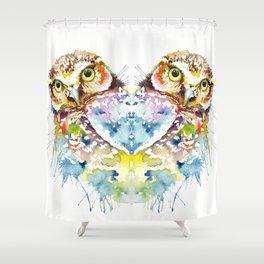 Owl Curious Shower Curtain