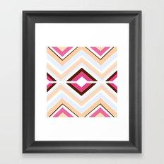 Mod stripes in raspberry Framed Art Print