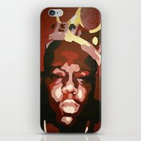 notorious big iPhone & iPod Skins featuring Notorious Big by The Art Of Gem Starr