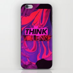 THINK VIOLENCE  iPhone & iPod Skin