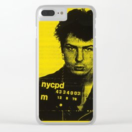 Sid Vicious  - Vintage Art Poster Clear iPhone Case