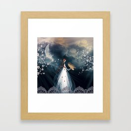 Le cri du hibou Framed Art Print