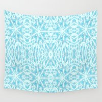 aqua Wall Tapestries featuring Aqua by 2sweet4words Designs