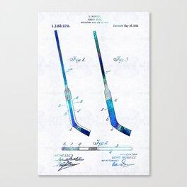 Blue Hockey Stick Art Patent - Sharon Cummings Canvas Print