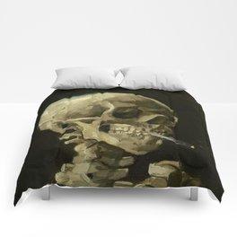 Vincent van Gogh - Skull of a Skeleton with Burning Cigarette Comforters
