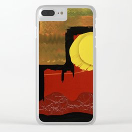 Terraces on the Red Planet Clear iPhone Case