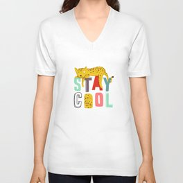 Stay Cool Leopard Unisex V-Neck