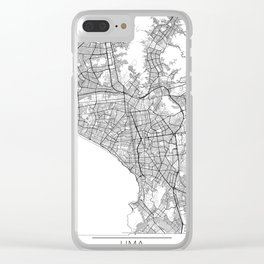Lima Map White Clear iPhone Case