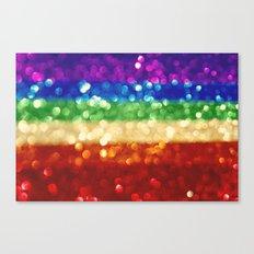 rainbow bokeh Canvas Print
