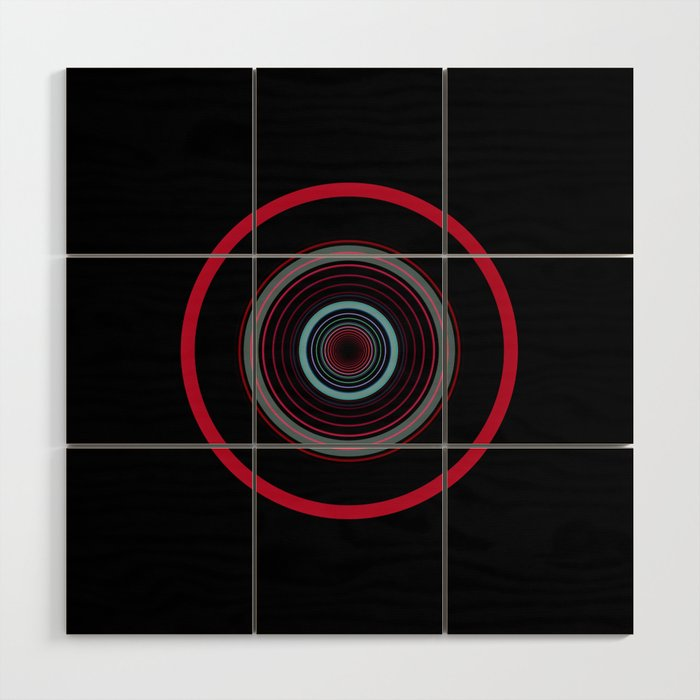 orbital 8 Wood Wall Art