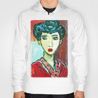 matisse Hoodies featuring LADY MATISSE IN TEEN YEARS by JANUARY FROST
