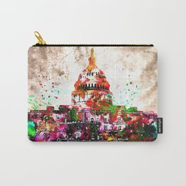 United States Capitol Grunge Carry-All Pouch