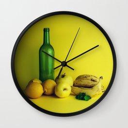 Lemon lime - still life Wall Clock