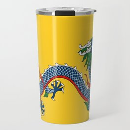 Chinese Dragon - Flag of Qing Dynasty Travel Mug