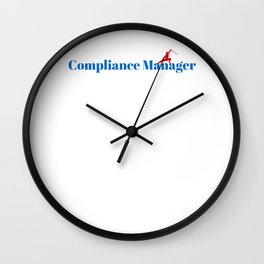 Compliance Manager Ninja in Action Wall Clock