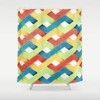 darren criss Shower Curtains featuring Criss-Cross by Tawnya's Studio