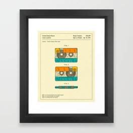 CASSETTE TAPE PATENT (1991) Reproduction Framed Art Print
