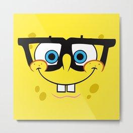 Spongebob Nerd Face Metal Print
