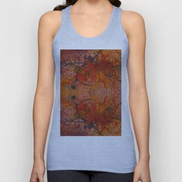 Branches Aflame with Flower Unisex Tank Top