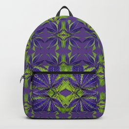 Marijuana Leaves Ultra Violet Pattern Backpack