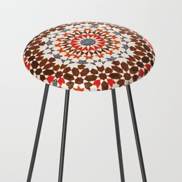 N64 - Traditional Geometric Moroccan Vintage Style Artwork Counter Stool